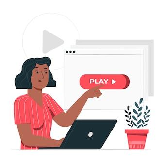 Press play concept illustration