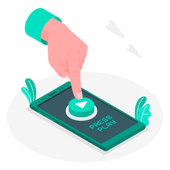 Нажмите кнопку play concept