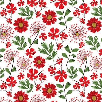 Шаблон прессованные цветы