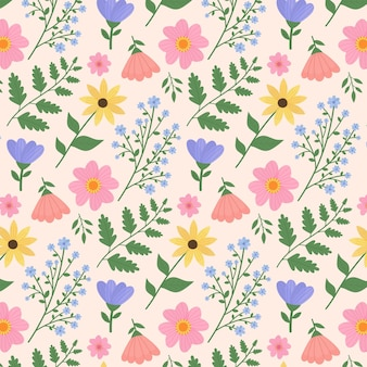 Pressed flowers pattern