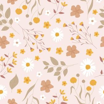 누르면 된 꽃 패턴