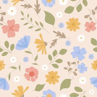 Pressed flowers pattern
