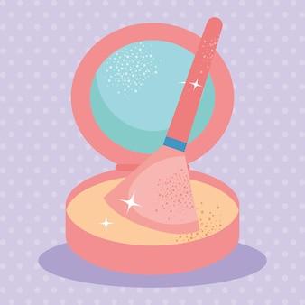 Pressed powder illustration