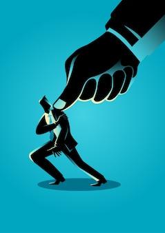 Under pressure businessman