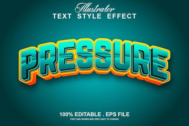 Редактируемый текстовый эффект давления