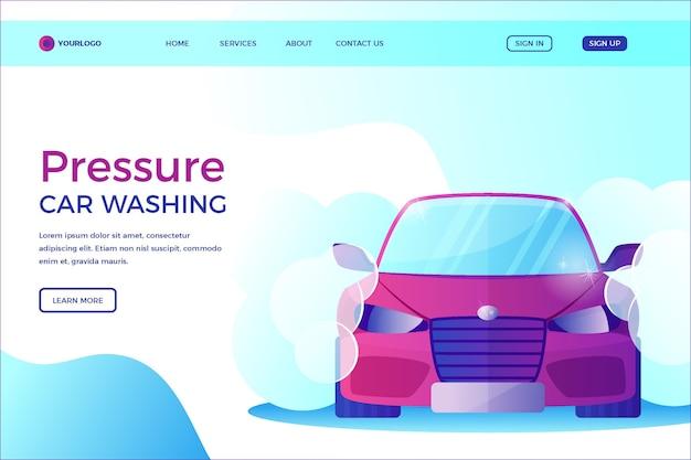 Pagina di destinazione del lavaggio a pressione