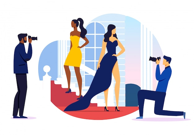 Prestigious event photoshoot vector illustration