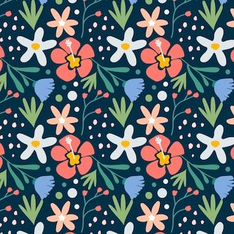 Pretty abstract floral pattern
