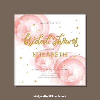 c1881f0faa49 Pretty bachelorette invitation with abstract stains