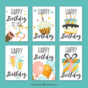 빈티지 스타일의 예쁜 생일 카드