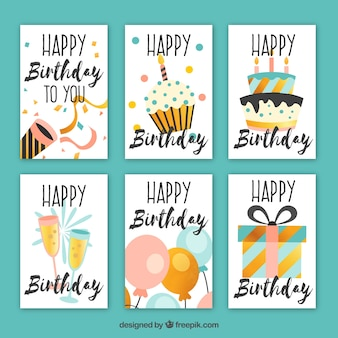 Pretty birthday cards in vintage style