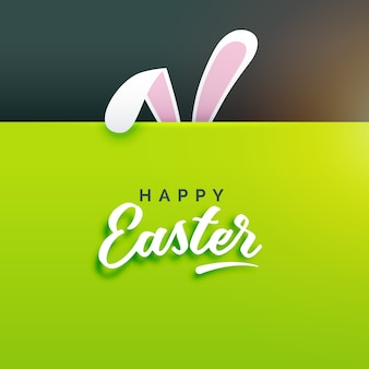 Pretty black and green easter background