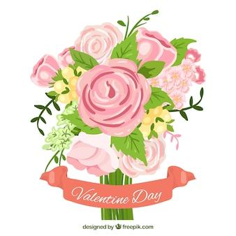さんバレンタインのためのバラの花束プリティ