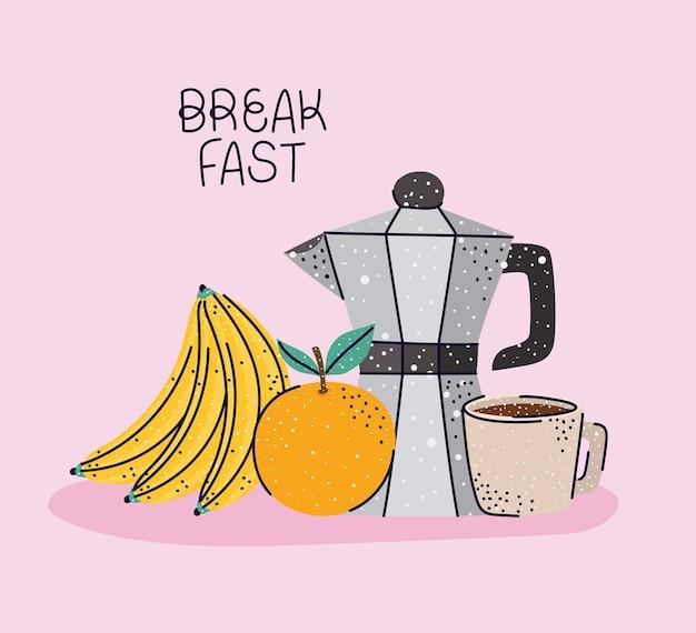 Pretty breakfast card