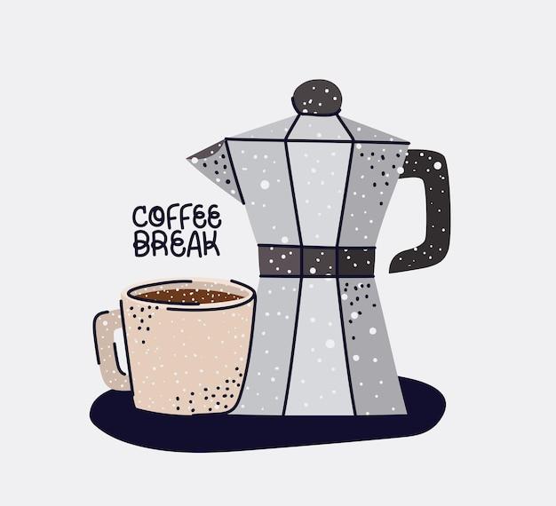 Pretty breakfast illustration