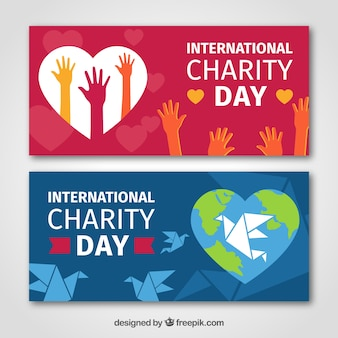 Pretty charity day banners