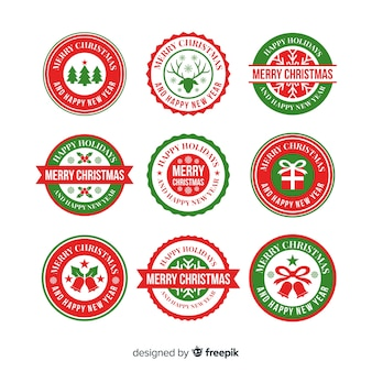 Pretty christmas badge collection