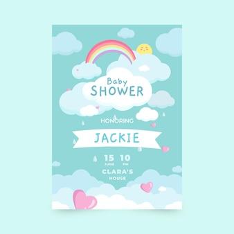 Pretty chuva de amor baby shower invitation