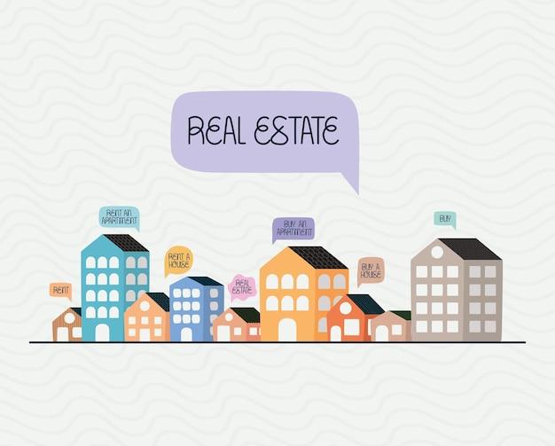 Красивый городской плакат с пузырьками