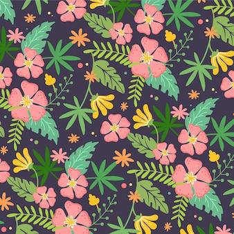 꽤 이국적인 꽃 패턴