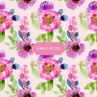 예쁜 꽃 수채화 원활한 패턴