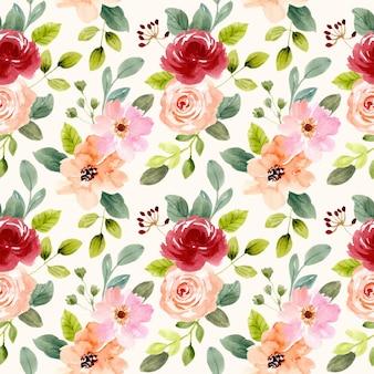Красивый цветочный сад акварель бесшовные модели