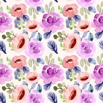 Pretty flower watercolor seamless pattern