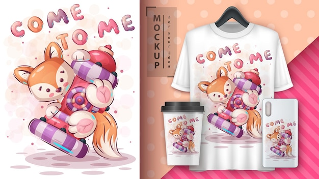 Pretty fox  poster and merchandising