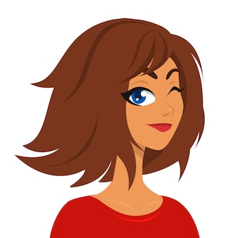 Pretty girl cartoon
