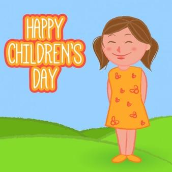 Красивая девушка рисунок на детский день