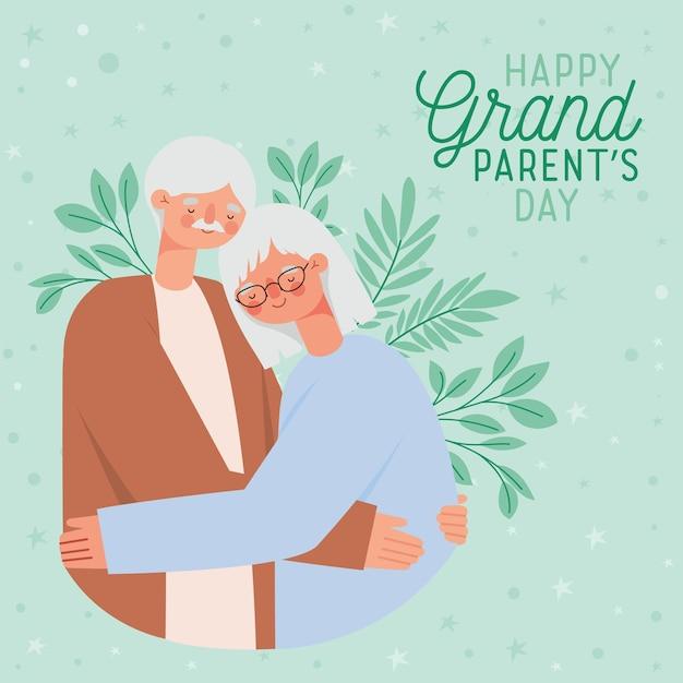 예쁜 조부모의 날 카드