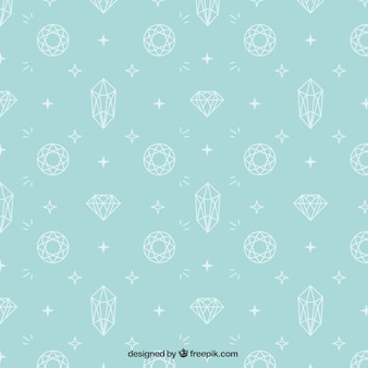 Pretty hand drawn diamond pattern
