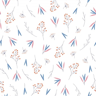Pretty leaves seamless pattern