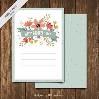 Pretty mother's day floral card