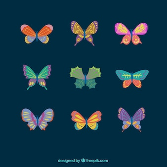 Pretty pack of colored butterflies with great designs