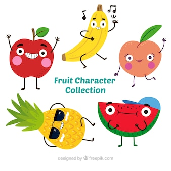 Pretty pack of five fruit characters