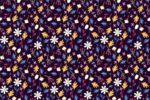 小さな花の背景にきれいなパターン