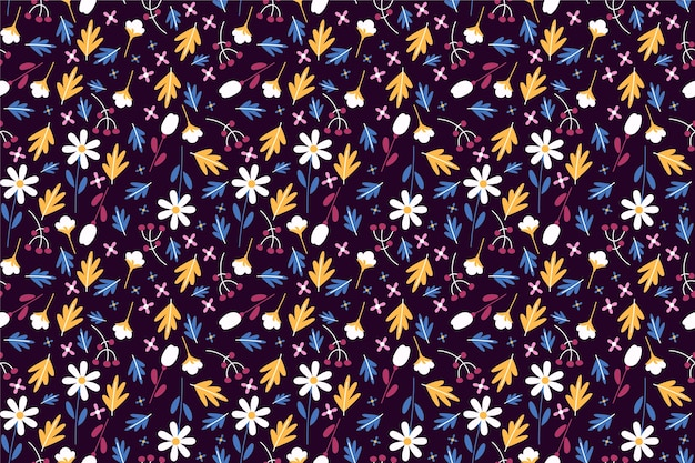 Pretty pattern in small flower background