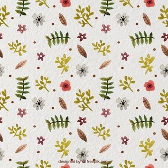 수채화 스타일에서 꽃 장식으로 예쁜 패턴