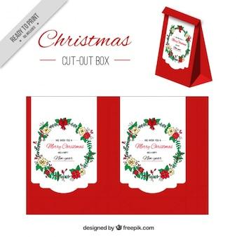 Pretty red christmas box