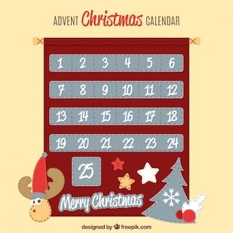 Pretty red christmas calendar