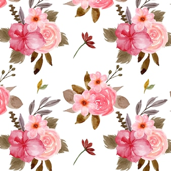 Pretty red floral seamless pattern