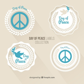 Pretty stickers peace in vintage style