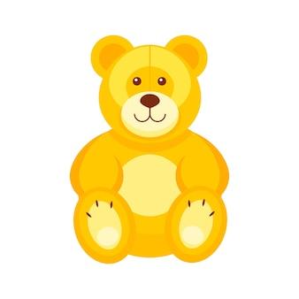 かなりテディベア。子供のおもちゃのベクトル図です。