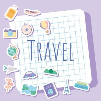 可愛らしい旅行イラスト