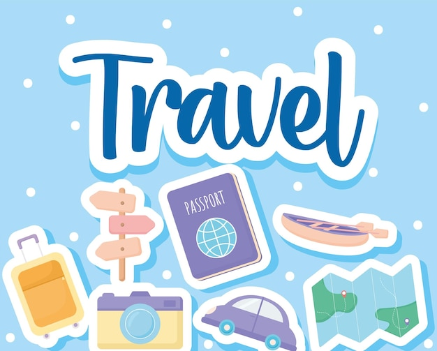 かわいらしい旅行ポスター