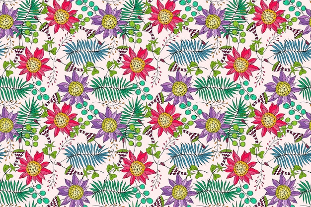 Довольно тропический цветочный узор