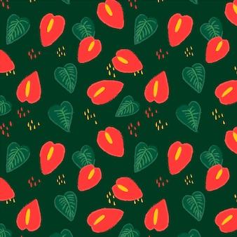 かなり熱帯の花柄