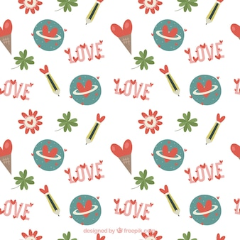 Pretty vintage love pattern