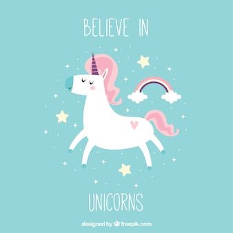 Pretty vintage unicorn background with text